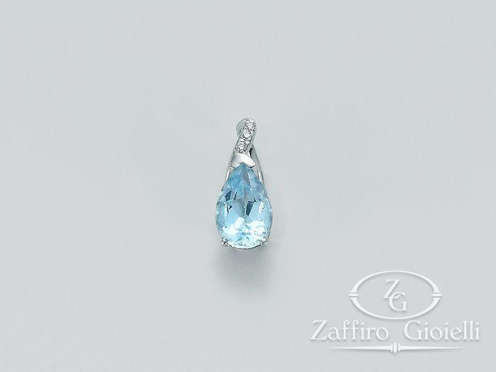 Pendente Miluna in oro e diamanti Oro 375 I Pendenti Gemme PFD407X
