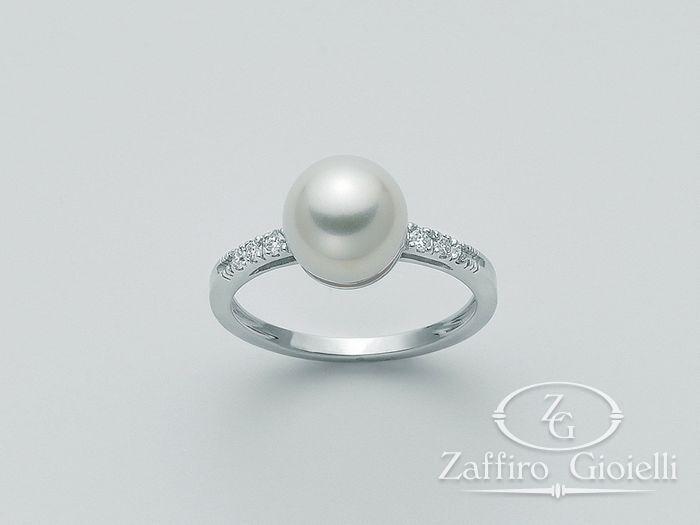 Anello con perla Miluna in oro e diamanti Parure Perle PLI1028