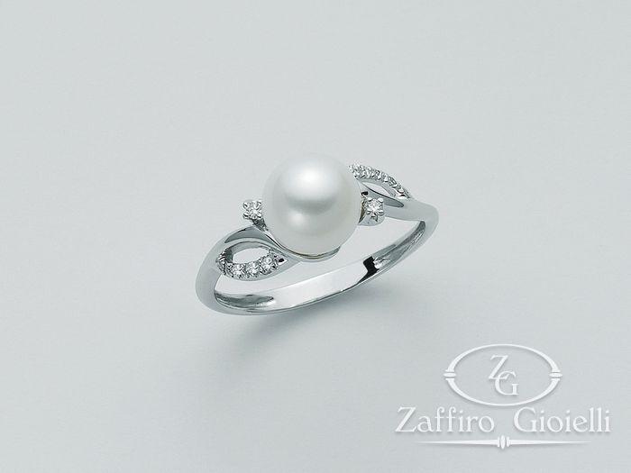 Anello con perla Miluna in oro e diamanti Parure Perle PLI1040