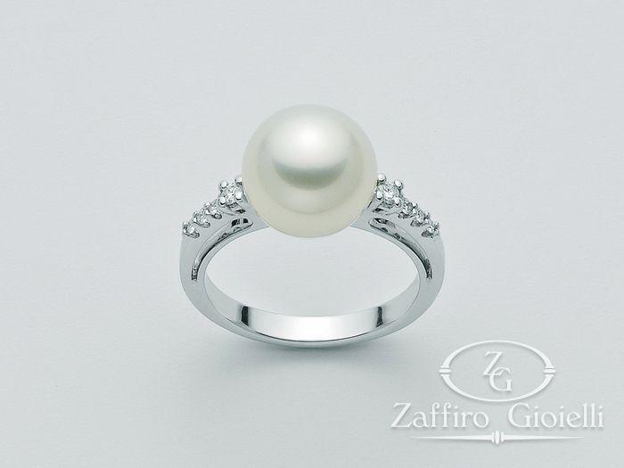 Anello con perla Miluna in oro e diamanti Parure Perle Australia PLI1061AM