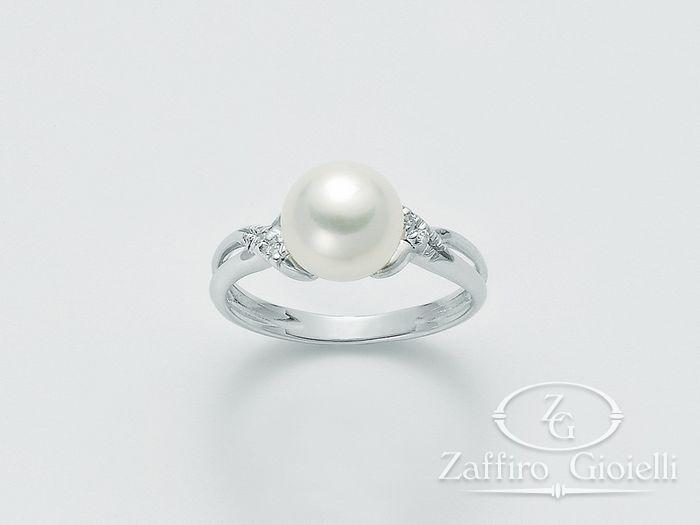 Anello con perla Miluna in oro e diamanti Parure Perle PLI1093