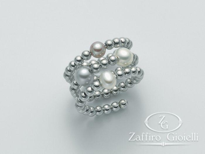 Anello con perla Miluna in argento Vortice PLI1365AG