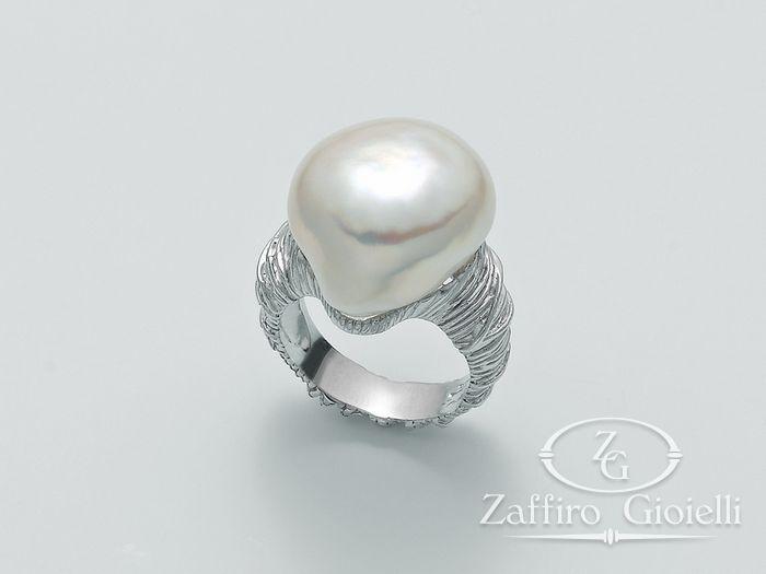 Anello con perla Miluna in argento Perle Di Seta PLI1502