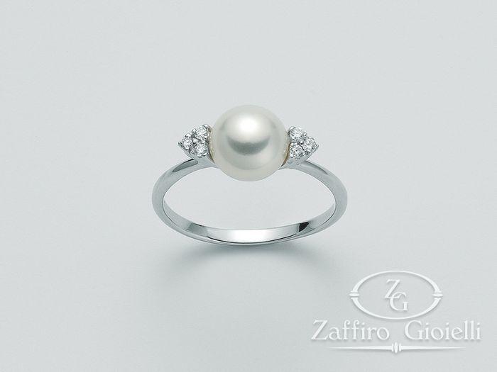 Anello con perla Miluna in oro e diamanti Parure Perle PLI981